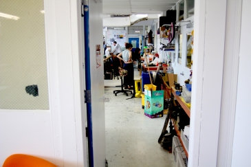 A peak inside the lab. One of the tenants hard at work on a project.